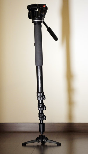 The Manfrotto 561BHDV video monopod