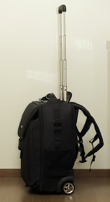The Thinktankphoto Airport takeoff roller/backpack