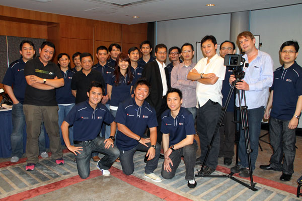 Me with the crew from Cathay Photo, Canon and Genus
