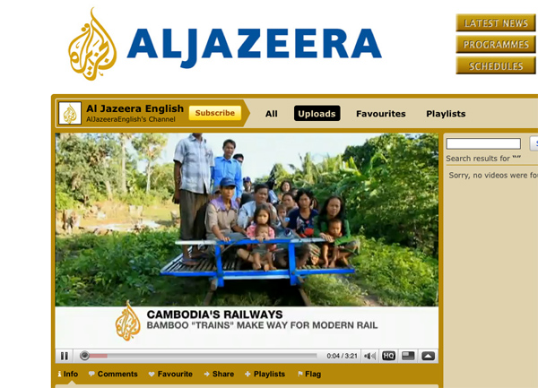 Click to see another Aljazeera film shot on the 7D