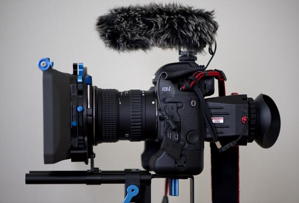 Fully loaded 1DmkIV with Tokina 11-16 f2.8, Genus Wideangle Mattebox and bars, Zacuto Z-finder