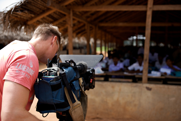 Shooting on an ENG camera in Sri Lanka