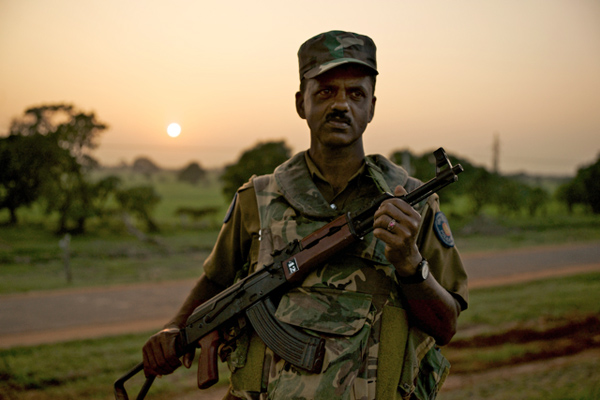 A soldier in Northern Sri Lanka
