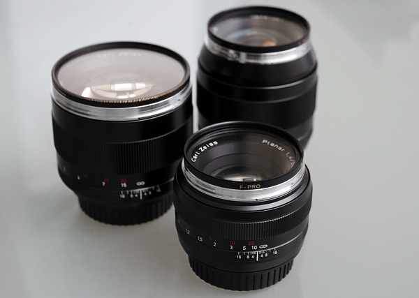 My collection of Zeiss ZE lenses