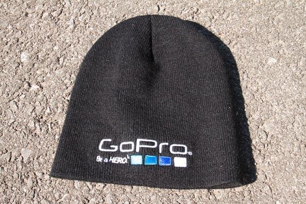 A GoPro beanie hat