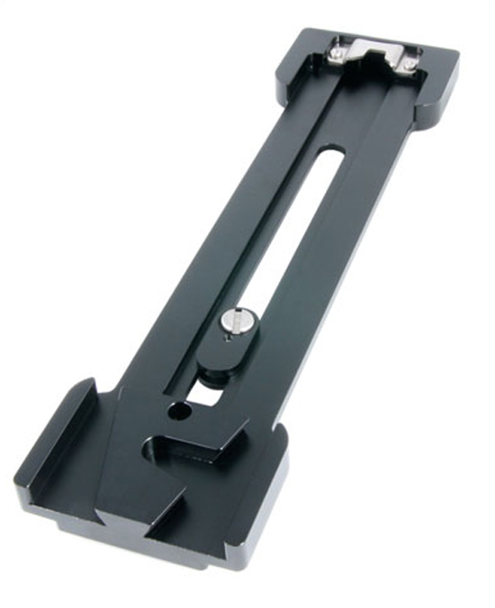 The Genus GAP plate to mount a rig on a Sony VCT14 tripod quick release plate