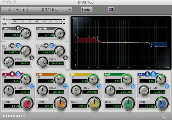 Applying RTAS audio filters in Avid