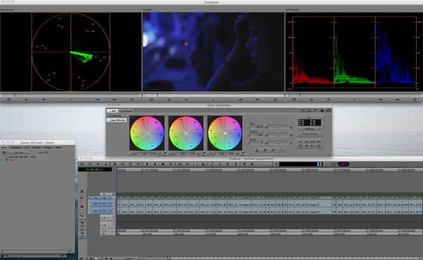 The MC5 color correction tools