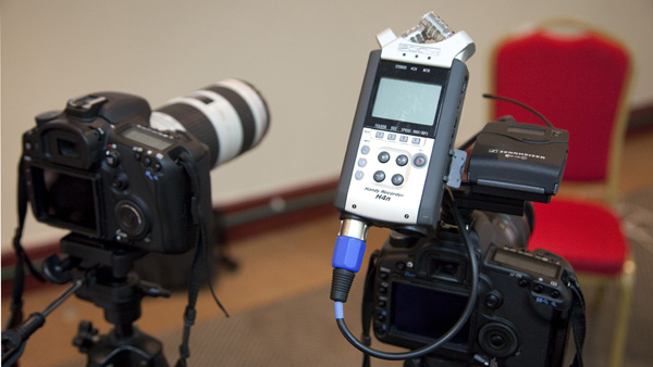 Using a Zoom H4n recorder for audio
