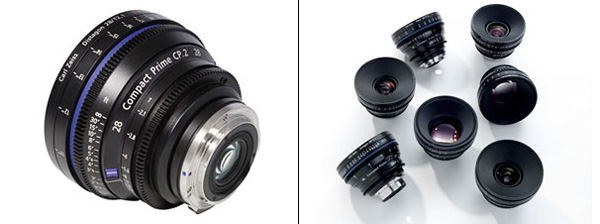 Zeiss CP.2 Cine lenses with long focus travel