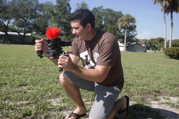 Doug holds his Panasonic GH-1 rig