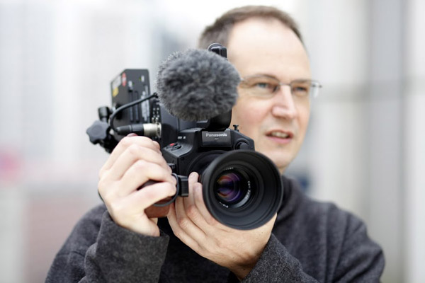 Andy Portch of Sky News with his Panasonic setup