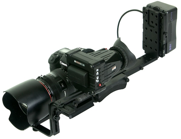 Even the 5D can be made to work with counterweights on this WestsideAV system