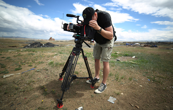 On location in Mongolia with the FS700