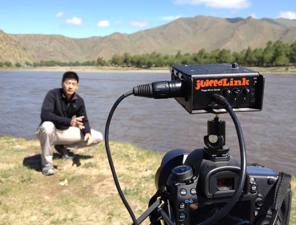 Shooting Al Jazeera correspondent Steven Chow using the Canon 7D