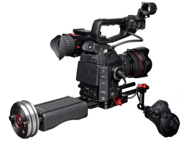 The Zacuto C-Shooter on a Canon C100