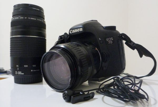 Tracey's battered Canon EOS 7D kit