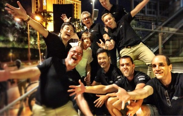 The Newsshooter.com team, back when they were all friends before the start of NAB 2013