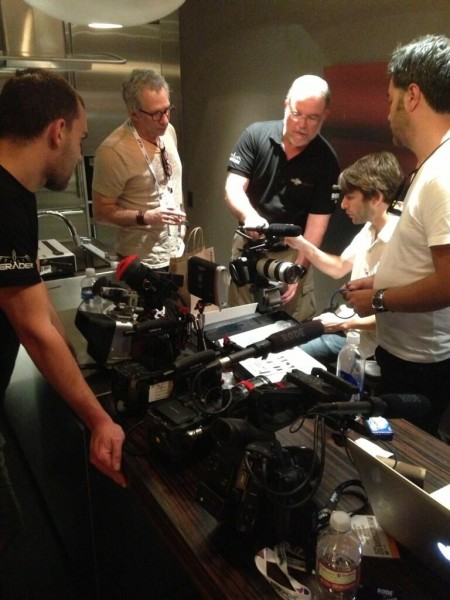 The team prepping gear for NAB 2013.