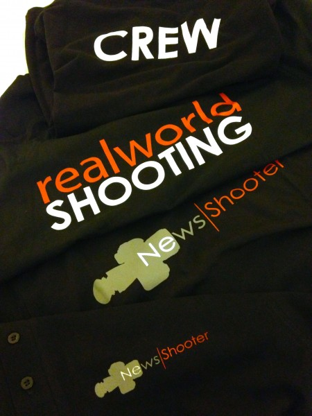 The Newsshooter.com team shirts ready for NAB 2013