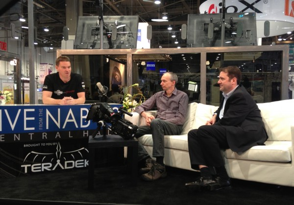 Our Technical Editor Matt Allard hosts a live show at the Teradek booth with Sony