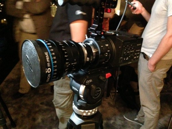 A new Schneider optic on a Sony FS100