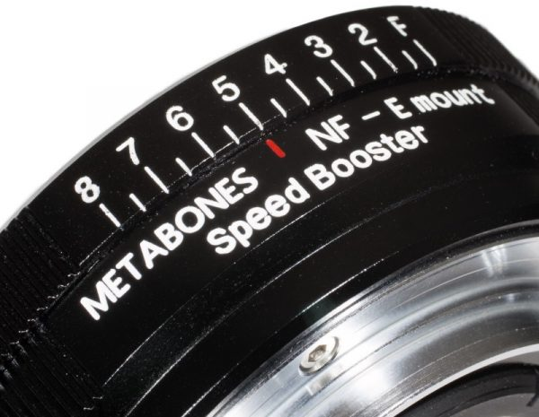 The Aperture contol for Nikon G lenses on the Nikon to NEX Speedbooster