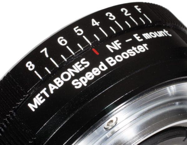 The Aperture contol for Nikon G lenses on the Nikon to NEX Speedbooster
