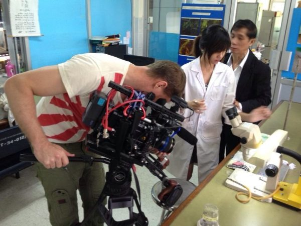 The F55 in action with Movcam rig