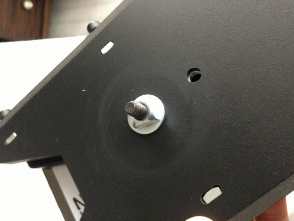 The cage's mounting holes