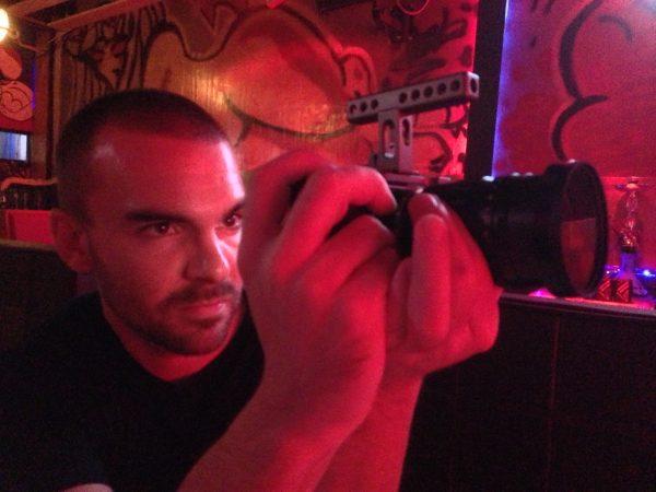 Jonas handholds the BMPCC with Voigtlander 17.5mm f0.95