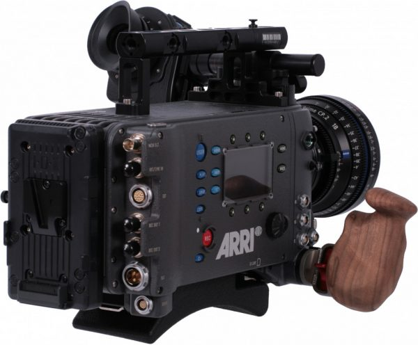 Vocas wooden handle setup for Arri Alexa