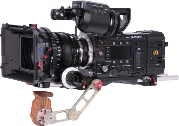 A Vocas wooden handle setup for Sony