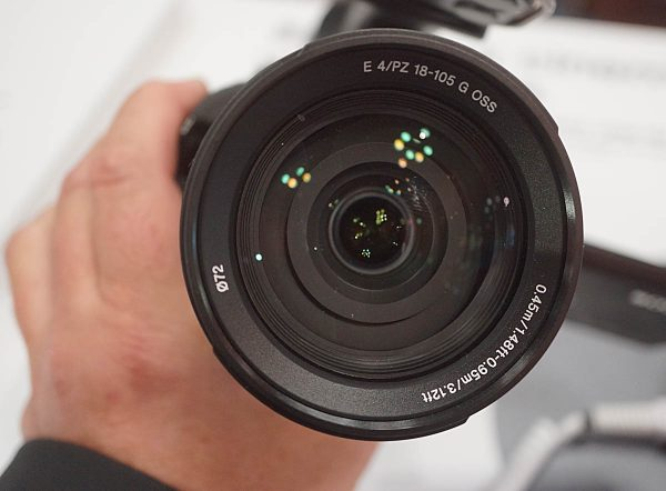 Sony E mount 18-105mm f/4 front element