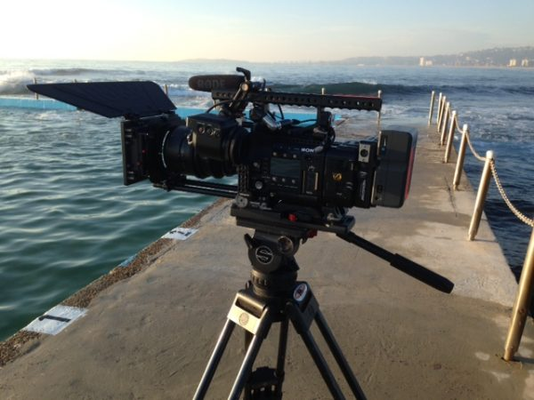 My Sony F55 down by the water