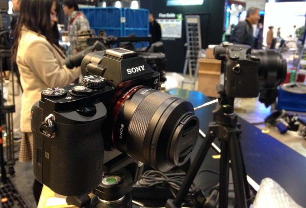 The Sony A7 on display at the Inter BEE show in Japan