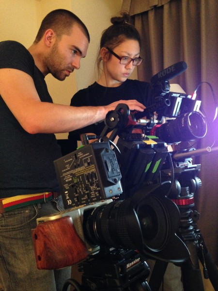 Jonas and Li Lian prep our cameras for Interbee