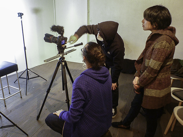 Shooting the first 281 interview - undisclosed location - photo courtesy Ryan Roth