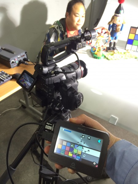 The test setup with Atomos Ninja 2 and Canon 24-70 f2.8L II