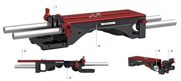 Zacuto VCT Universal Baseplate, 15mm Rod Type