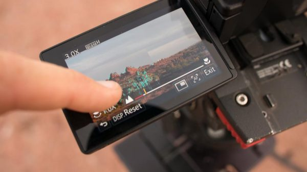 The GH4 touchscreen