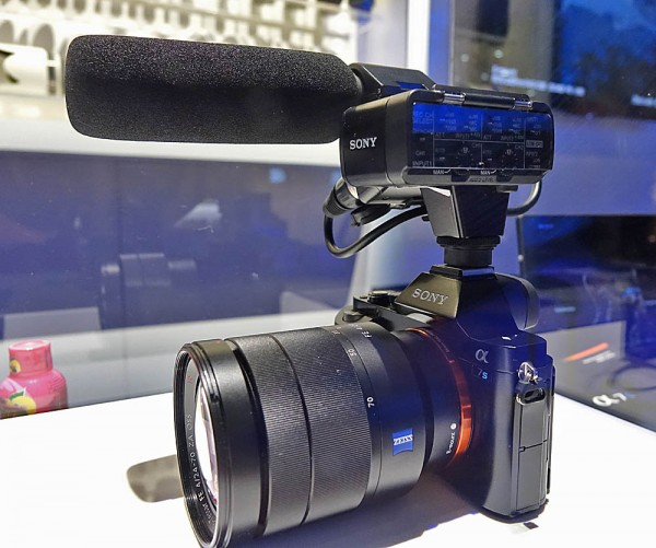 Sony's a7S with new XLR adapter