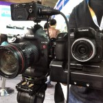 A few tidbits from China's CCBN show: GH4 vs 1DC size comparison and other bits and bobs