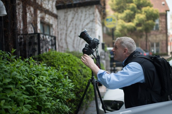 At work shooting Thames Town with the Canon 5D mmiii