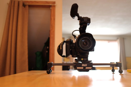 The Duzi with Canon C100 mounted