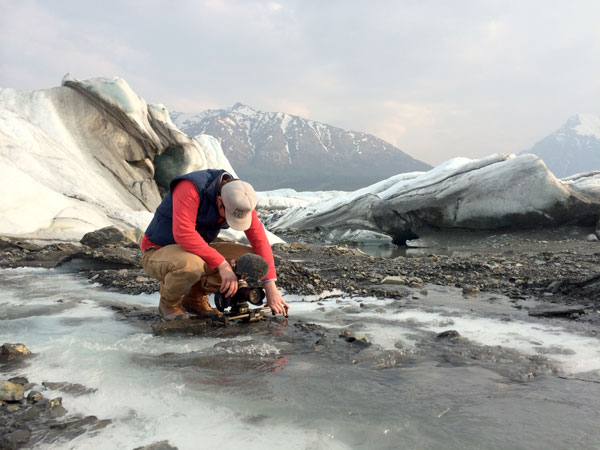 On a glacier with my Indie Alaska partner in crime Travis Gilmour