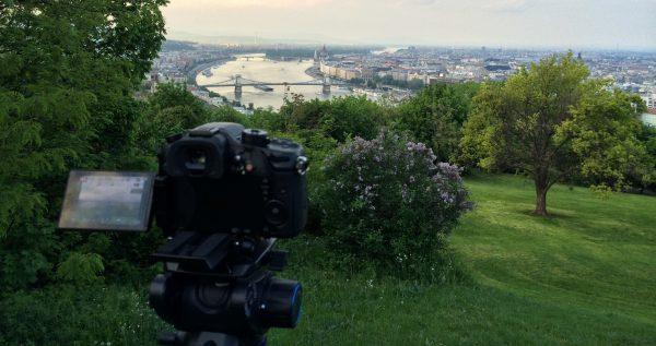 Shooting the Budapest cityscape on the GH4. (copyright Joe Simon)