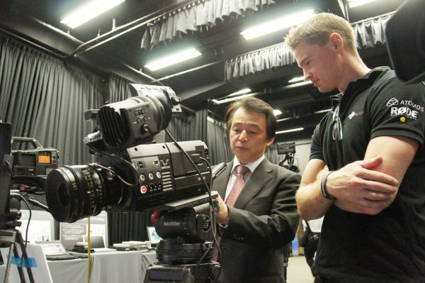 Panasonic's Neil Ugo goes over the camera with me