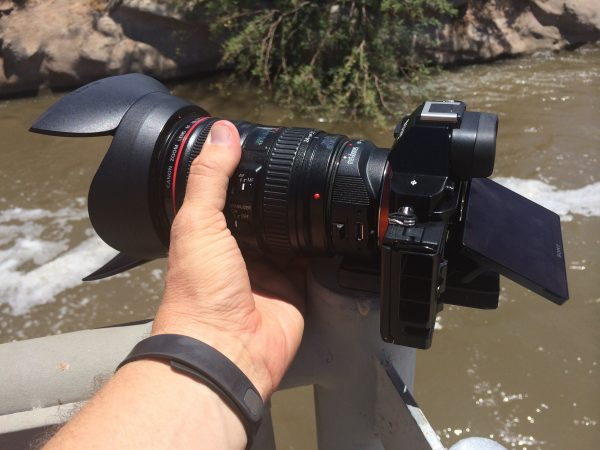 The a7S with Canon 24-70 f4 and Metabones is still relatively compact