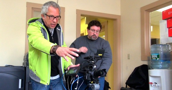 Me directing some b-roll shots. Todd on the Canon C300. Photo by Pictures From The Sky